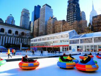 Patinar sobre hielo en Nueva York - pista de Bryant Park