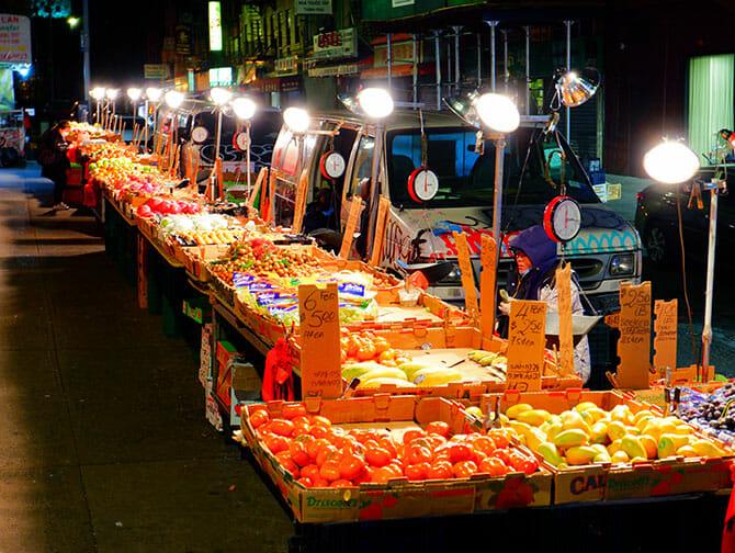 Chinatown en NYC - mercado
