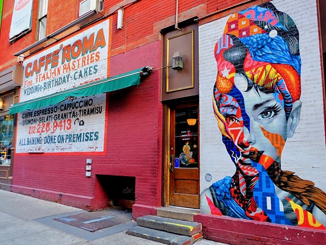 Barrio Little Italy en Nueva York - Mural