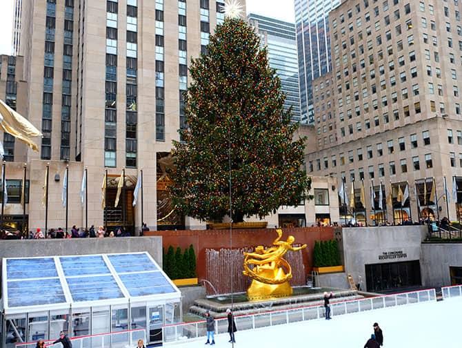 Barrio Midtown Manhattan - Pista de patinaje del Rockefeller