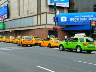 Taxi en Nueva York - taxis verdes y amarillos