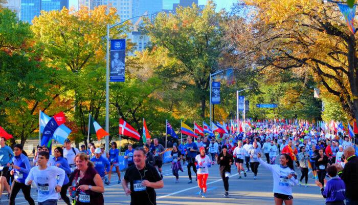 La Maratón de Nueva York - Participantes en Central Park