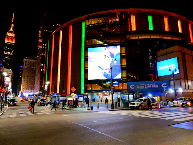 Madison Square Garden en Nueva York - Exterior
