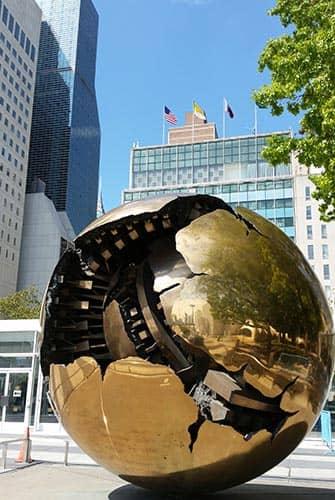 Naciones Unidas en Nueva York - Globo terraqueo