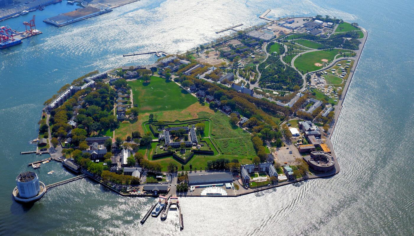 Governors Island en Nueva York - Vista aerea