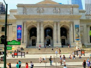 Biblioteca pública en Nueva York