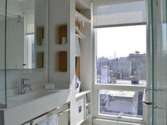 Yotel Hotel en Nueva York - baño