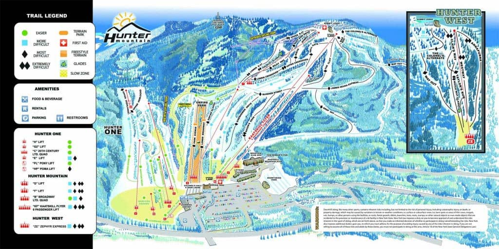 Esquiar o hacer snowboard en Nueva York - Pistas
