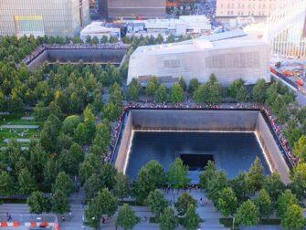 Monumento conmemorativo a las víctimas del 11-S en Nueva York - Desde arriba