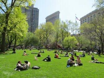 Parques en Nueva York - Gente en Madison Square Garden