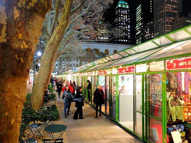 Mercados en Nueva York - Decoracion Bryant Park
