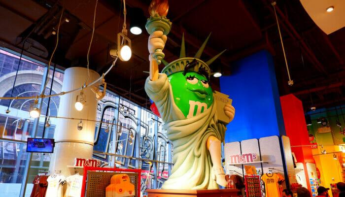 M&M's Store en Times Square - Lady Liberty