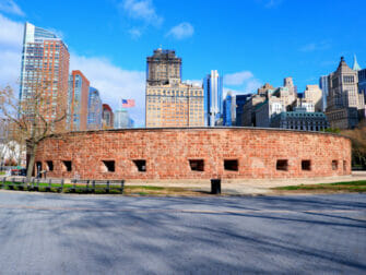 Lower Manhattan en NYC - en barco a la Lady Liberty