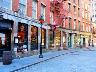 Lower Manhattan en NYC - calles