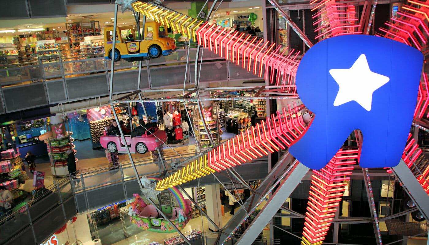 Noria en ToysRUs Nueva York