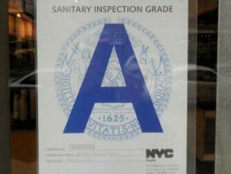 Higiene en los restaurantes de Nueva York - Grado A