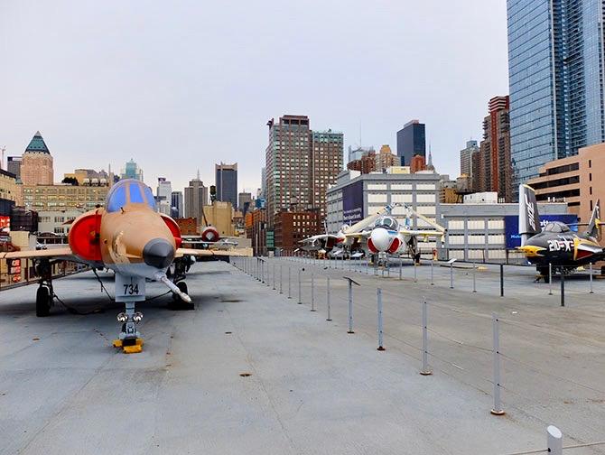 Intrepid Sea, Air and Space Museum en Nueva York - La cubierta