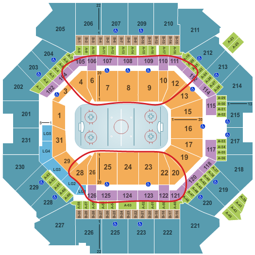 Tickets para los New York Islanders - Plano del Barclays Center