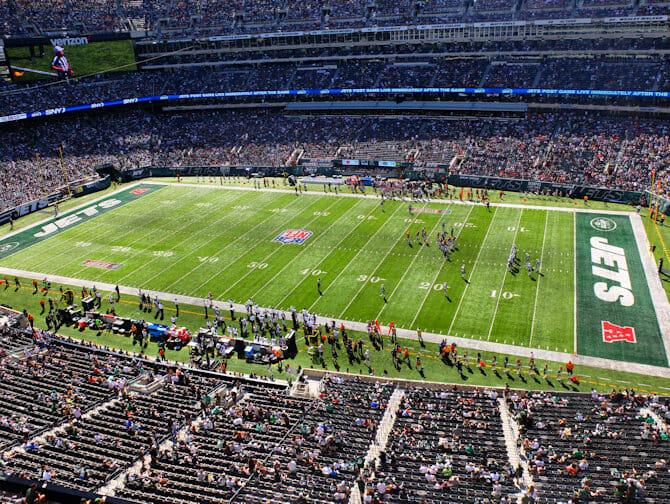 Tickets para los New York Jets - Partido de fútbol americano