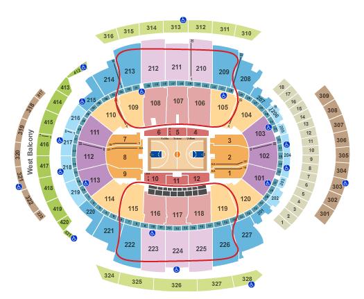 New York Knicks Tickets Madison Square Garden - Ubicación asientos