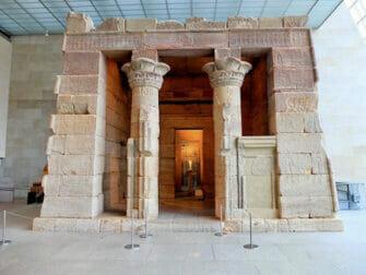 Metropolitan Museum of Art en Nueva York - Fachada del Templo de Dendur