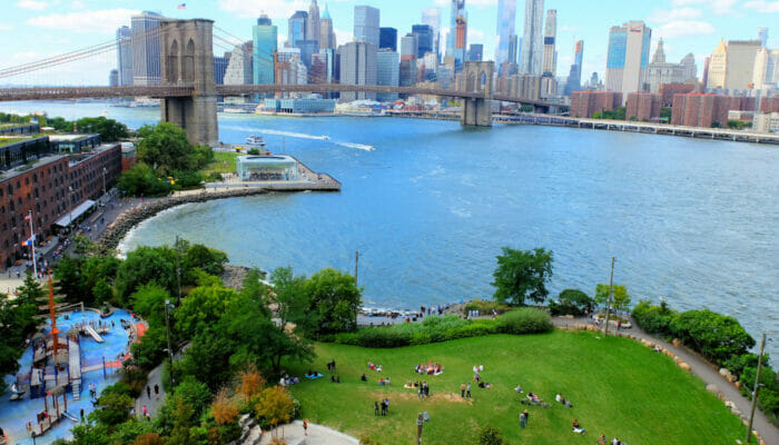 Brooklyn Bridge Park en Nueva York - Desde arriba