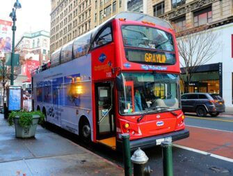 Bus hop on hop off en Nueva York - Gray Line rojo