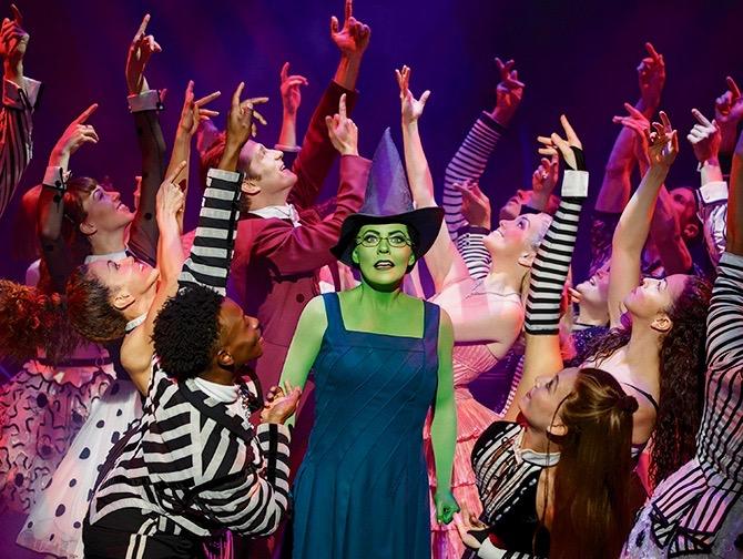 Tickets para Wicked en Broadway - Elphaba y el elenco