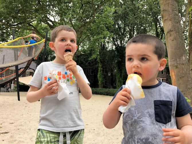 Comer con niños en Nueva York
