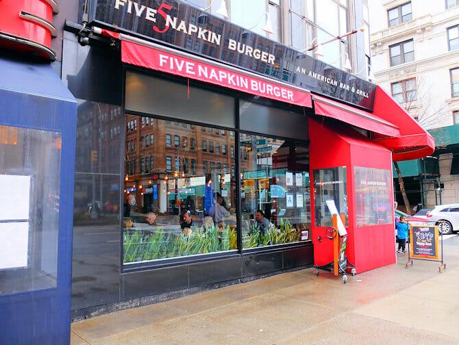 Hell's Kitchen en NYC - Five Napkin Burger