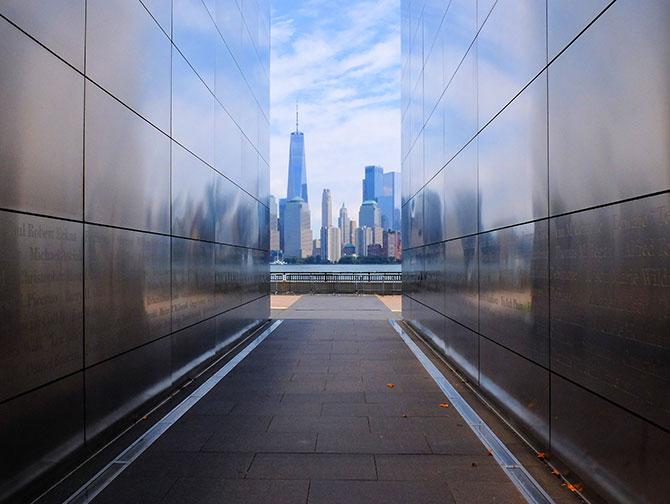 Empty Sky Memorial en New Jersey - Vista del skyline