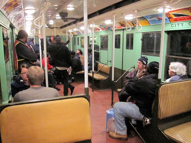 Trenes vintage en NY - Interior del tren