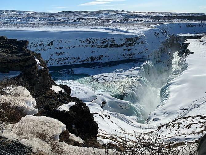 Escala en Islandia - cascada