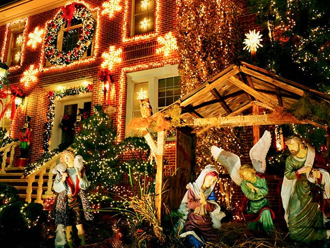 Dyker Heights Christmas Lights - Escena Navideña
