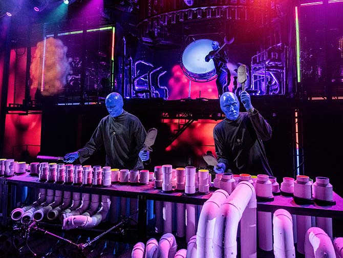 Tickets para Blue Man Group en Nueva York tickets - En el escenario