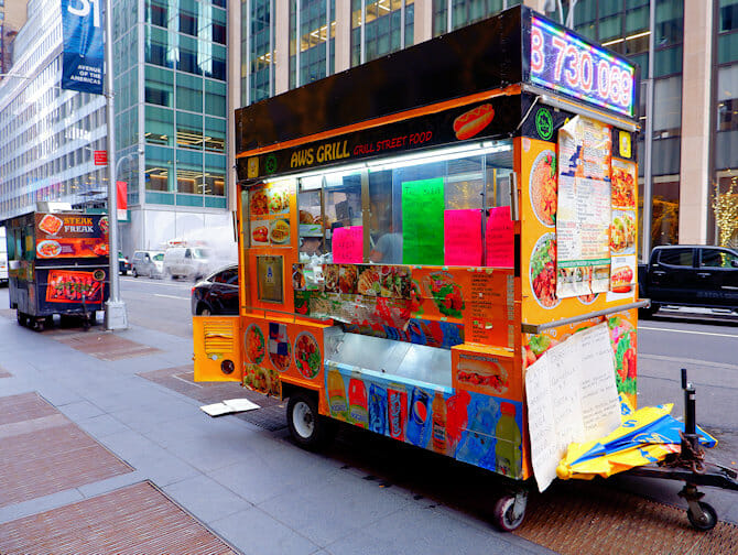 Comida callejera en Nueva York - Bapcha