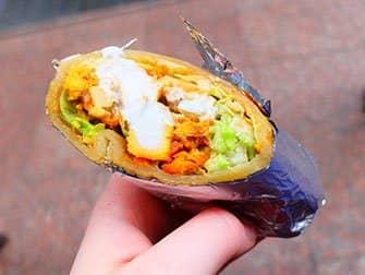 Comida callejera en Nueva York - comida india