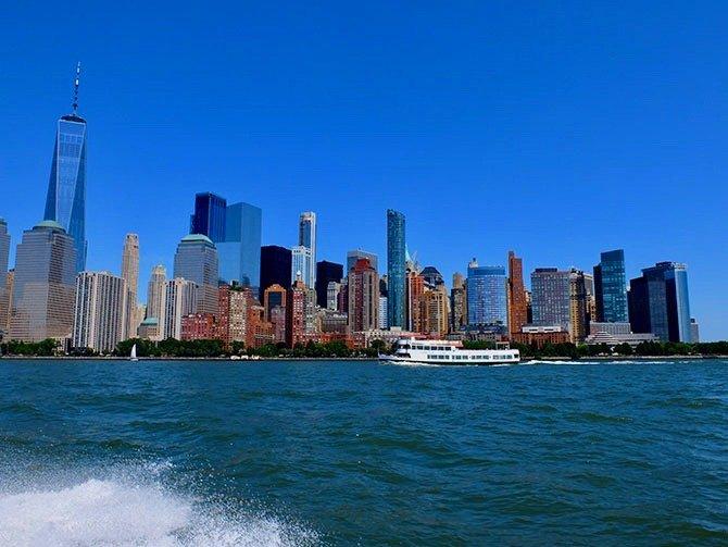 Paseo en lancha rápida en Nueva York - Vista desde la lancha