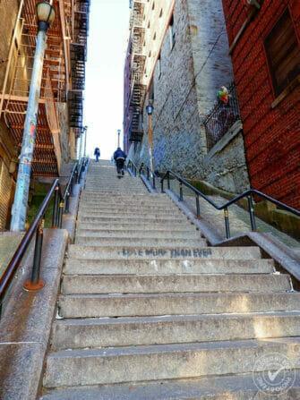 Las escaleras de Joker en el Bronx