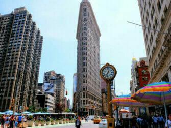 Flatiron Building en Nueva York - Reloj en el Flatiron Building