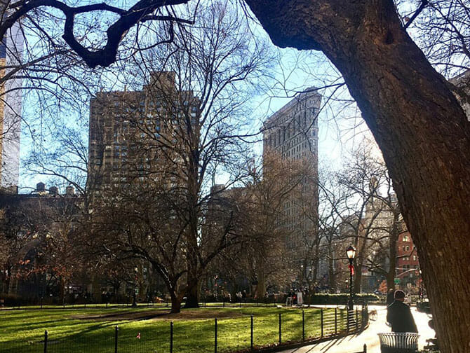 Flatiron Building en Nueva York - Madison Square Park