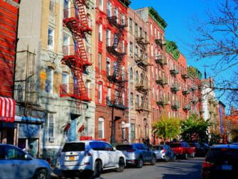 Lower East Side en Nueva York - Escaleras de incendio