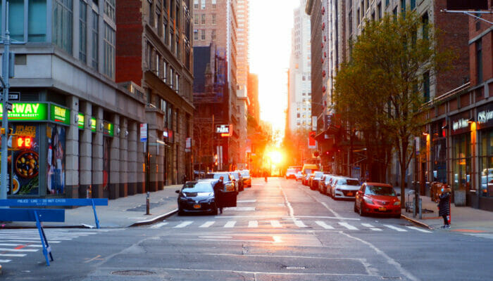 Manhattanhenge - Vistas desde la calle