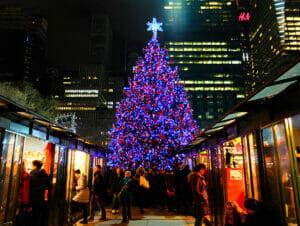 Mercados navideños en Nueva York