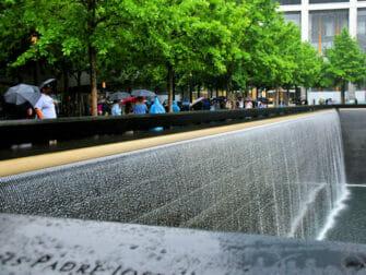 La lluvia en Nueva York - Monumento conmemorativo del 11-S