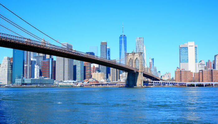 Manhattan en Nueva York - Brooklyn Bridge